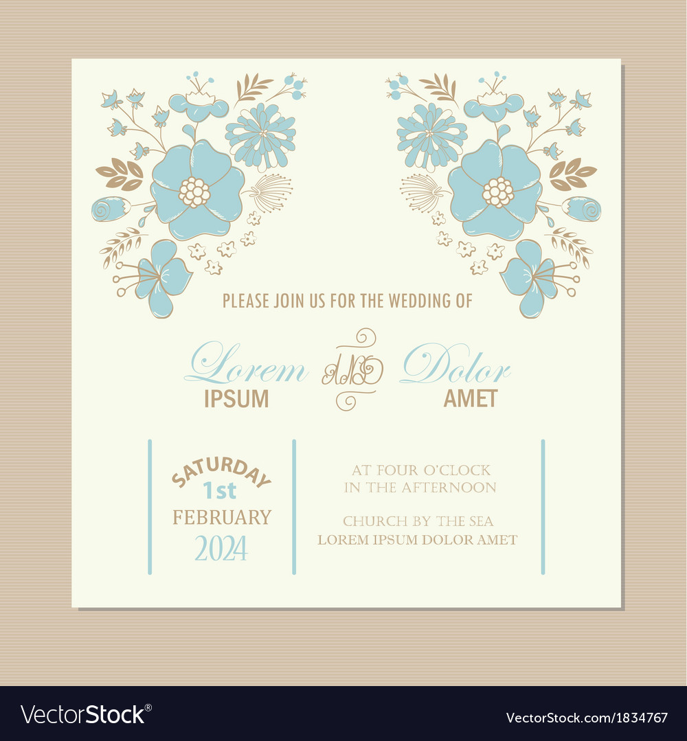 Wedding invit card vector | Price: 1 Credit (USD $1)