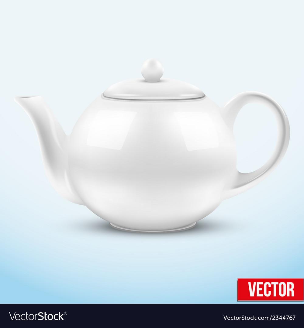 White ceramic teapot vector | Price: 1 Credit (USD $1)