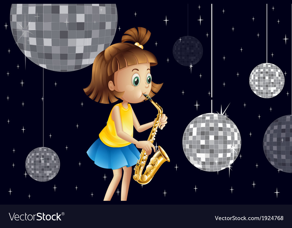 A girl performing inside the disco house vector | Price: 3 Credit (USD $3)