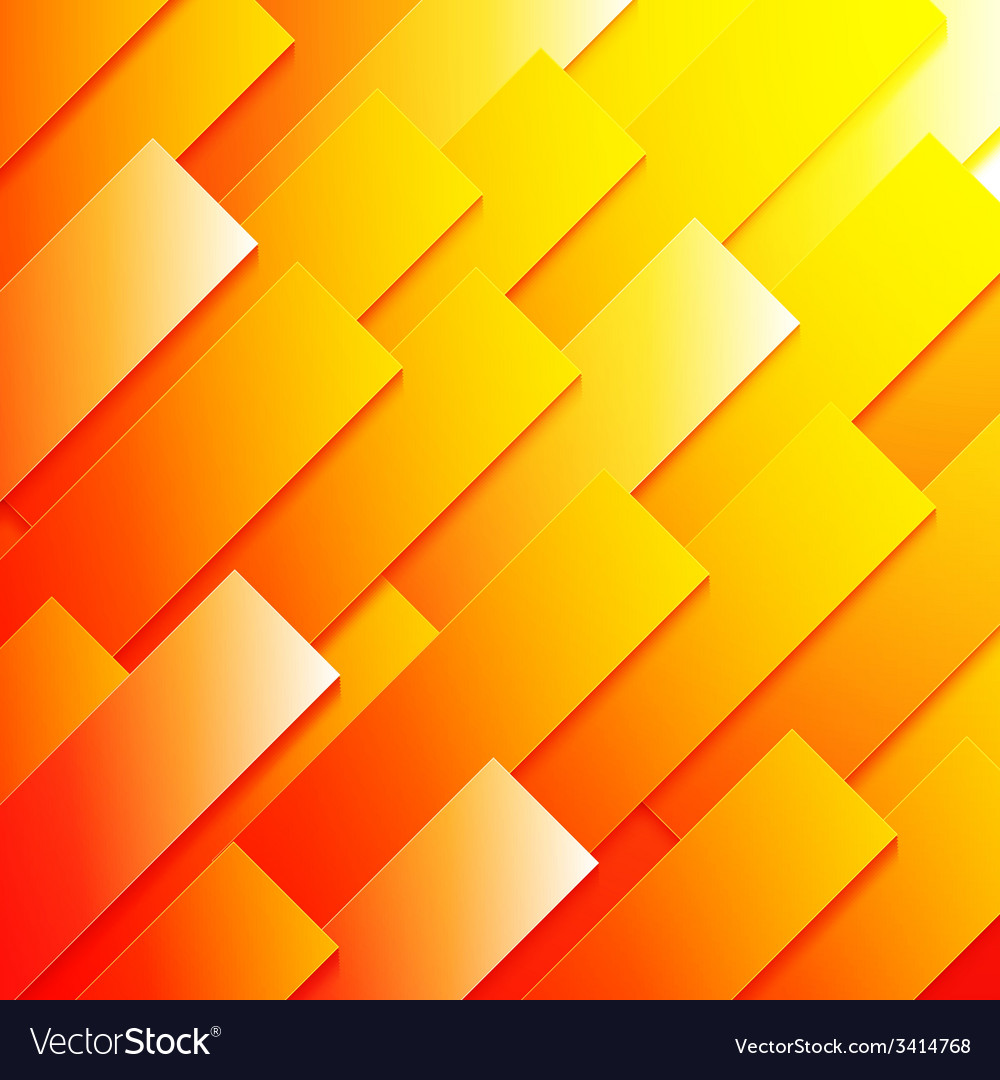 Abstract red orange and yellow paper rectangle vector | Price: 1 Credit (USD $1)