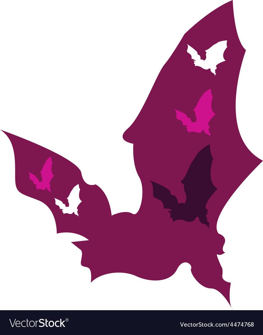 Bat silhouette vector   Price: 1 Credit (USD $1)