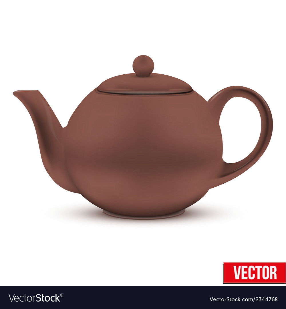 Brown ceramic teapot vector | Price: 1 Credit (USD $1)