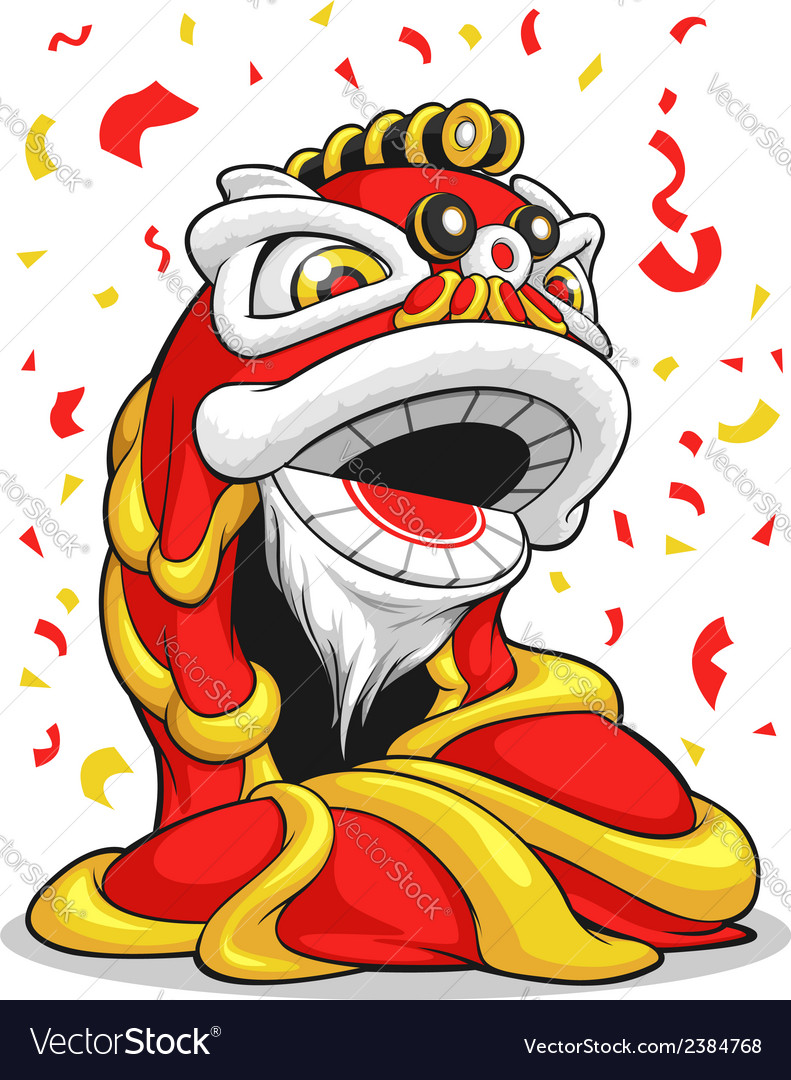 Chinese new year lion vector | Price: 1 Credit (USD $1)
