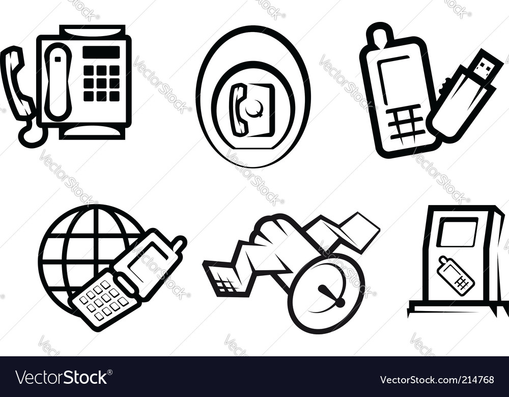 Communication and internet symbols vector | Price: 1 Credit (USD $1)