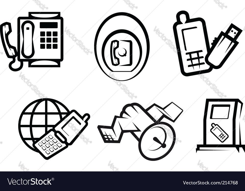 Communication and internet symbols vector | Price: 1 Credit (USD $1)