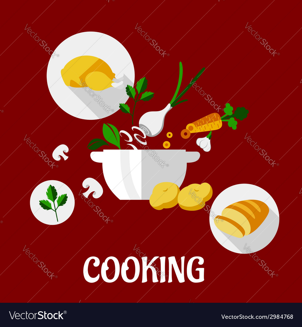 Cooking flat design vector | Price: 1 Credit (USD $1)