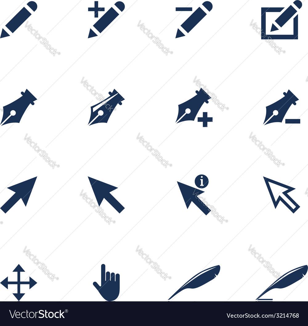 Cursor icons vector   Price: 1 Credit (USD $1)