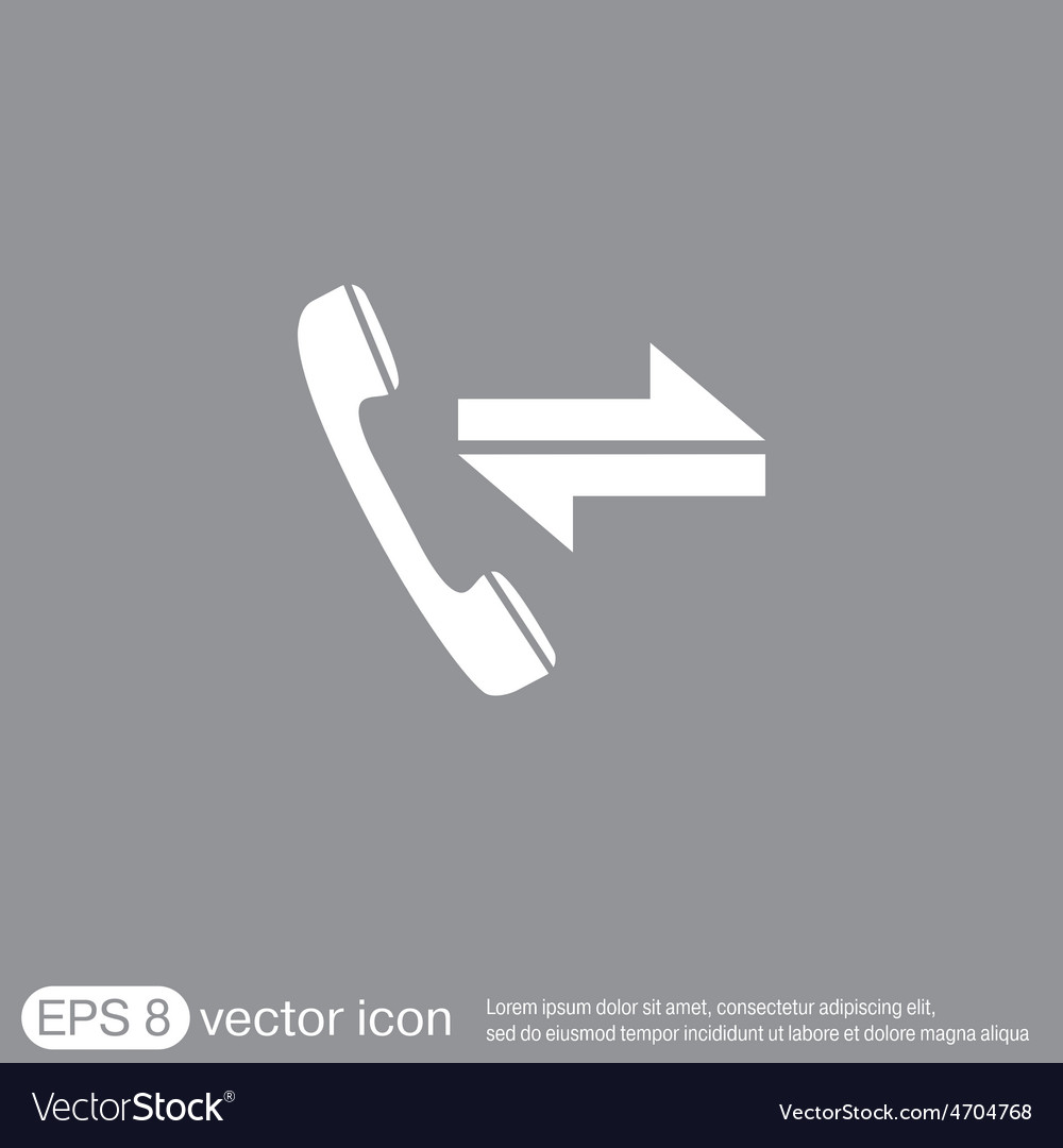 Incoming and outgoing call symbol of the incoming vector | Price: 1 Credit (USD $1)