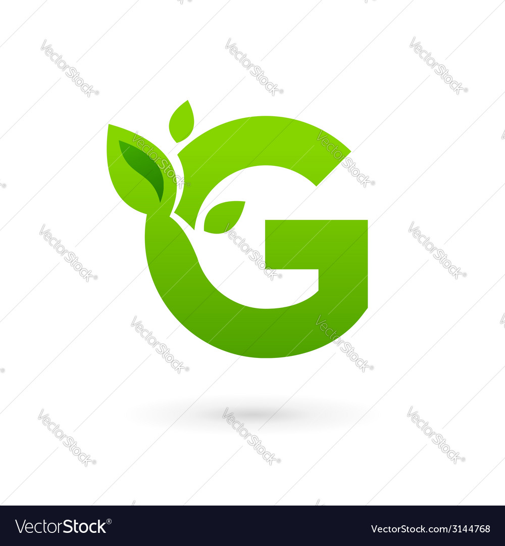 Letter g eco leaves logo icon design template vector | Price: 1 Credit (USD $1)