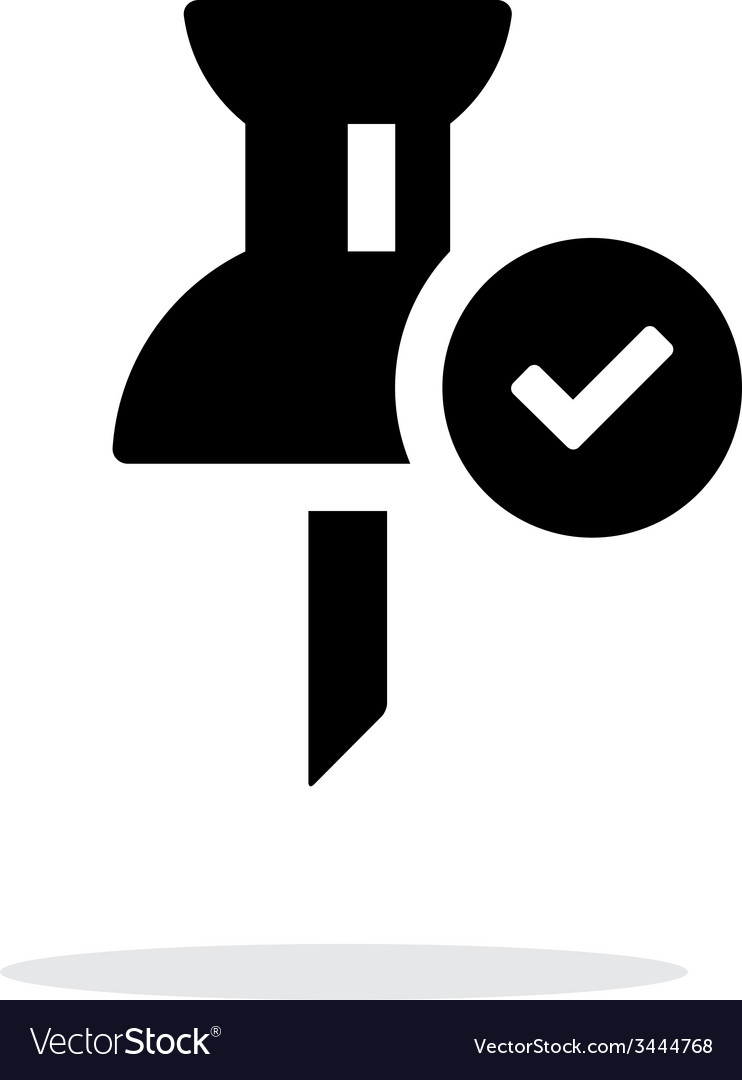 Mapping check pin icon on white background vector | Price: 1 Credit (USD $1)