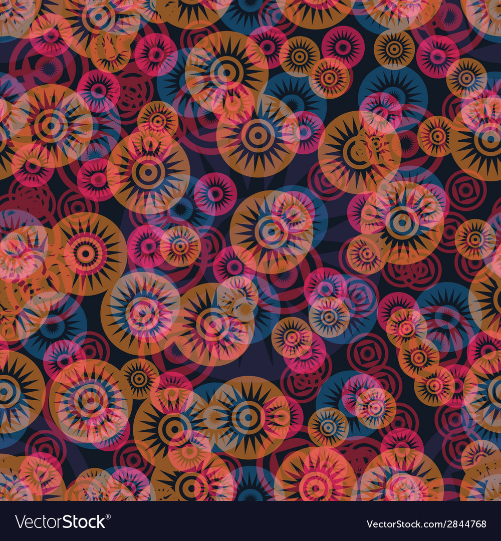 Ornate flowers seamless pattern vector | Price: 1 Credit (USD $1)