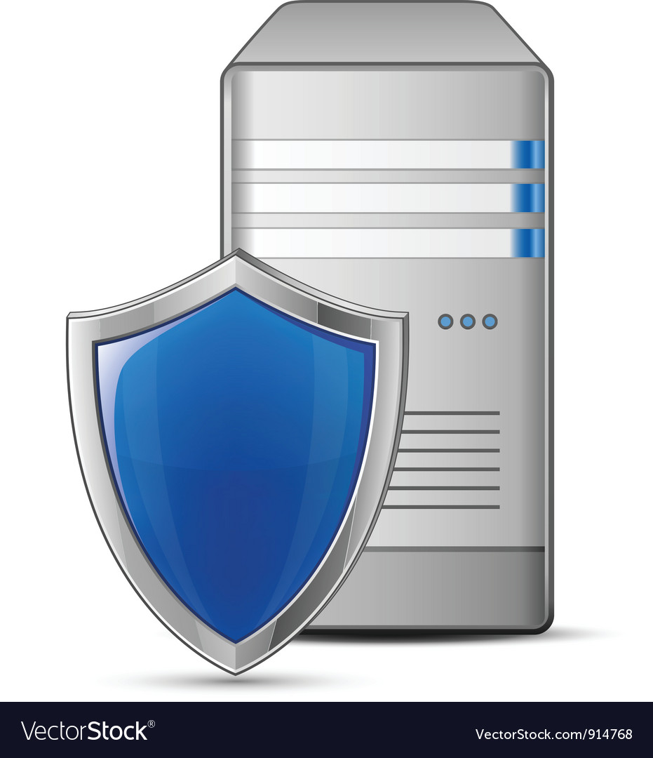 Protected computer vector | Price: 3 Credit (USD $3)
