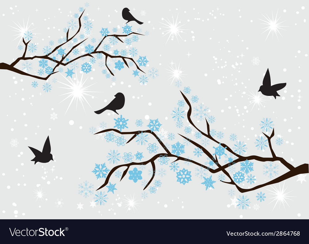 Snow branches vector | Price: 1 Credit (USD $1)