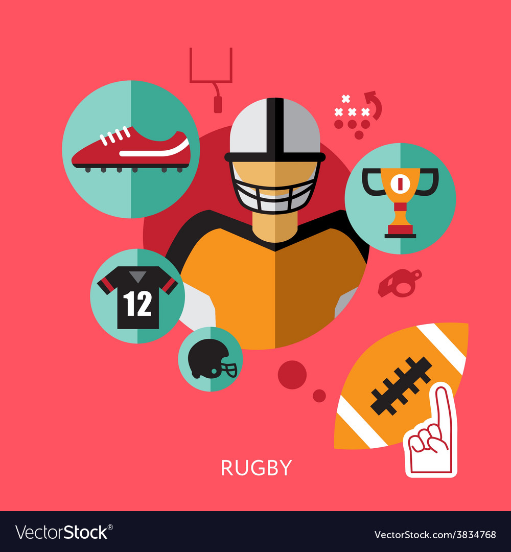 Sport infographics rugby statistic template vector | Price: 1 Credit (USD $1)