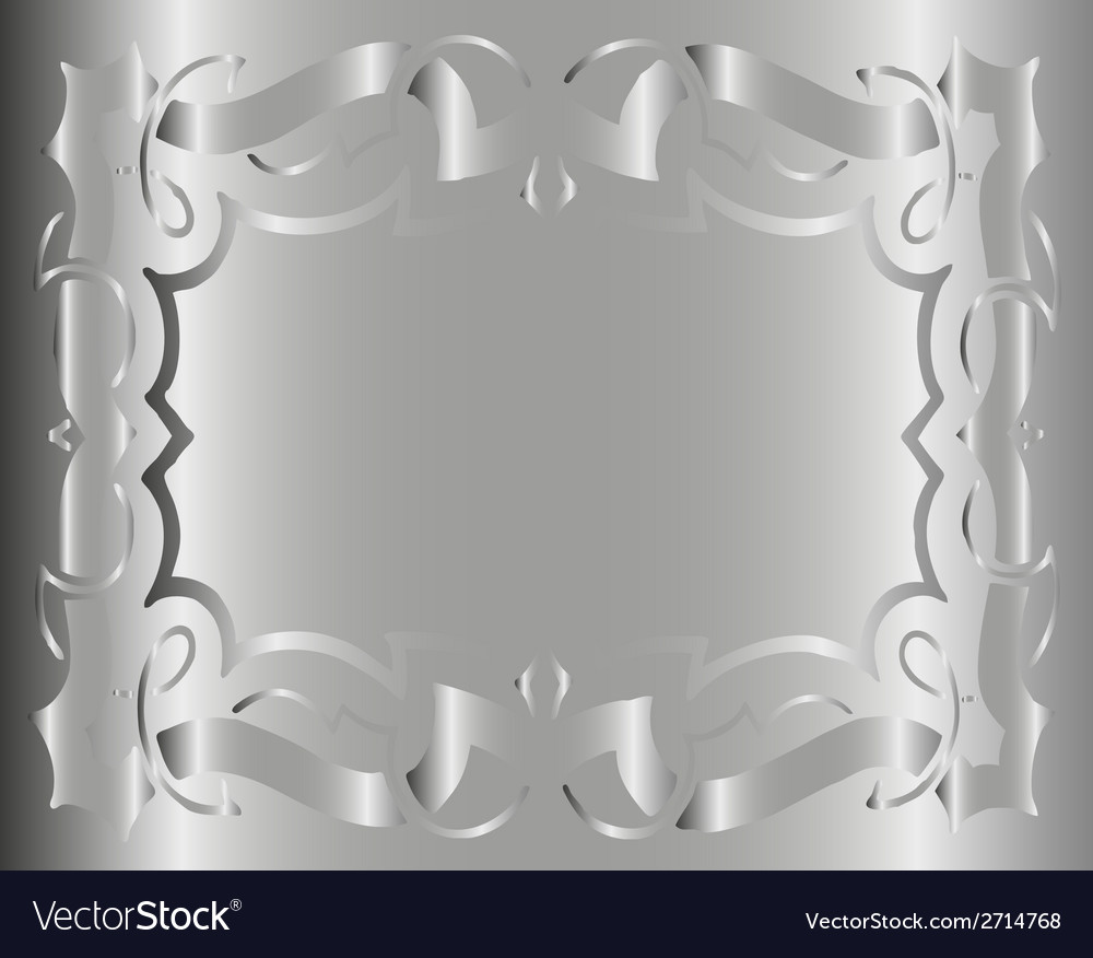 Vintage royal background gray silver floral luxury vector | Price: 1 Credit (USD $1)