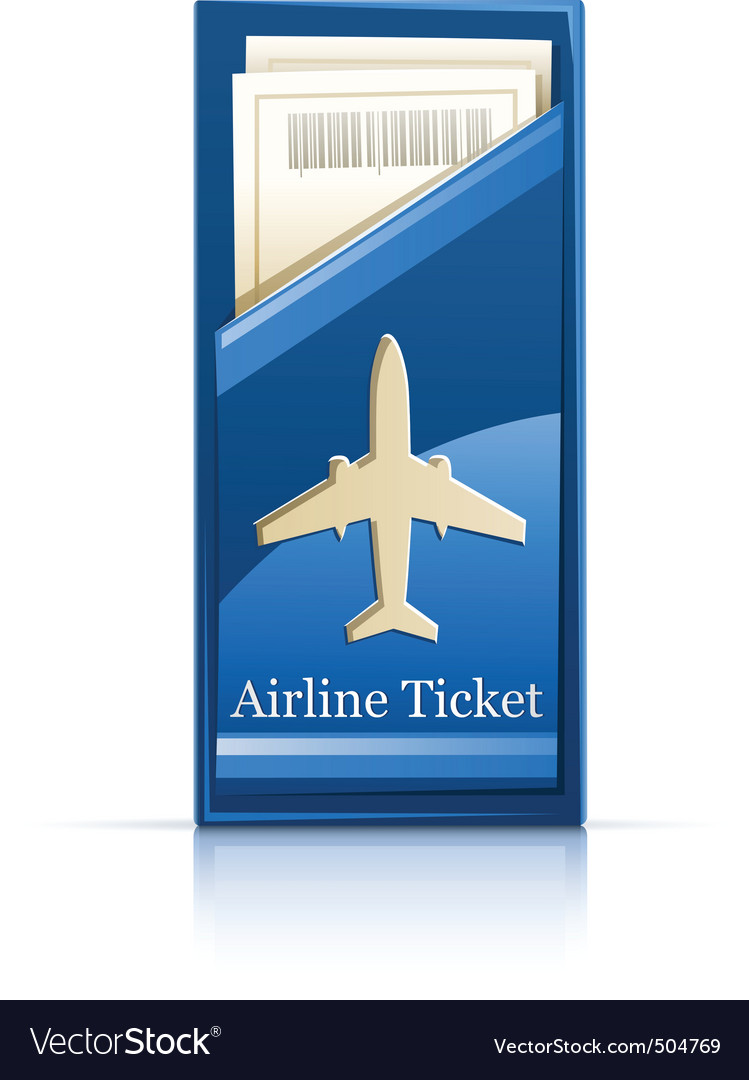 Airline ticket vector | Price: 1 Credit (USD $1)