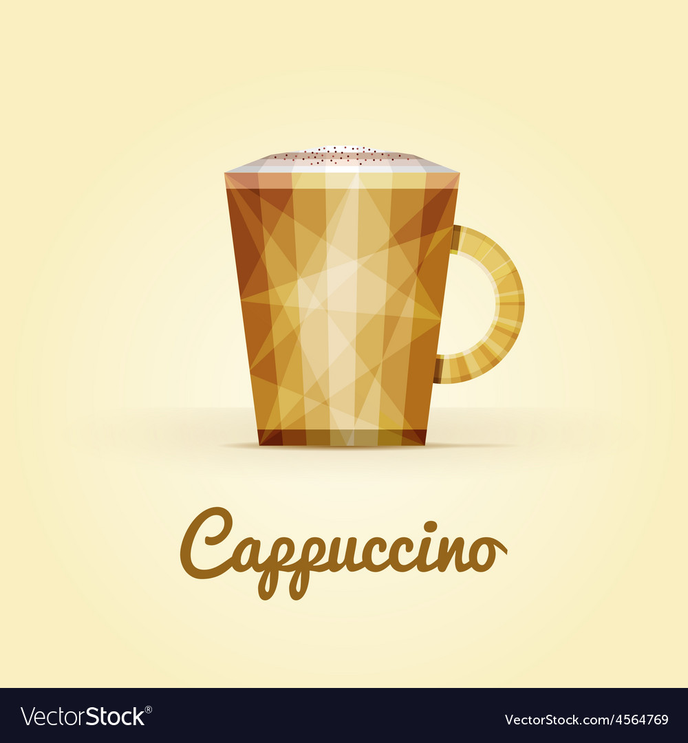 Cappuccino triangular logo vector | Price: 1 Credit (USD $1)