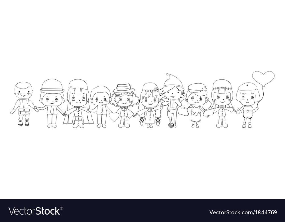 Children sketches vector | Price: 1 Credit (USD $1)