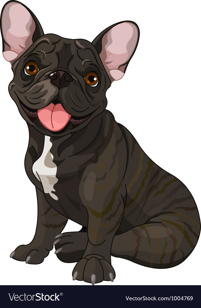 Cute bulldog vector | Price: 3 Credit (USD $3)