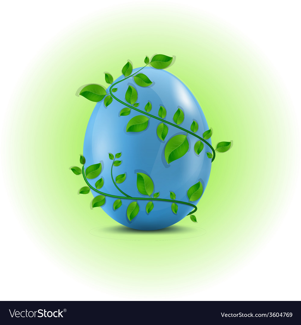 Egg in the leafs vector | Price: 1 Credit (USD $1)