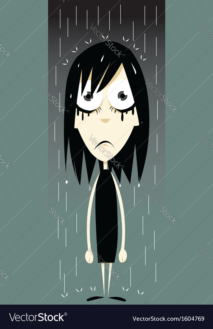 Emo girl - bad day vector   Price: 1 Credit (USD $1)
