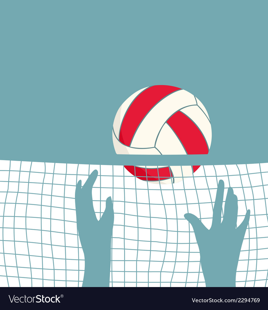Playing volleyball with net vector | Price: 1 Credit (USD $1)