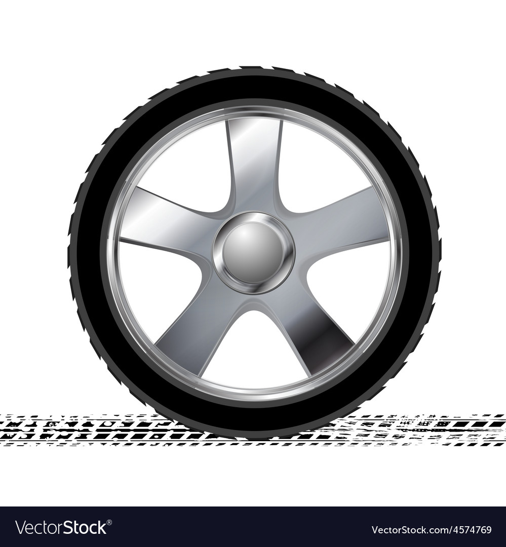 Wheel and grunge tire track abstract background vector | Price: 1 Credit (USD $1)