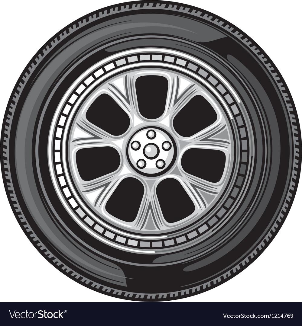 Wheel-tyre vector | Price: 3 Credit (USD $3)