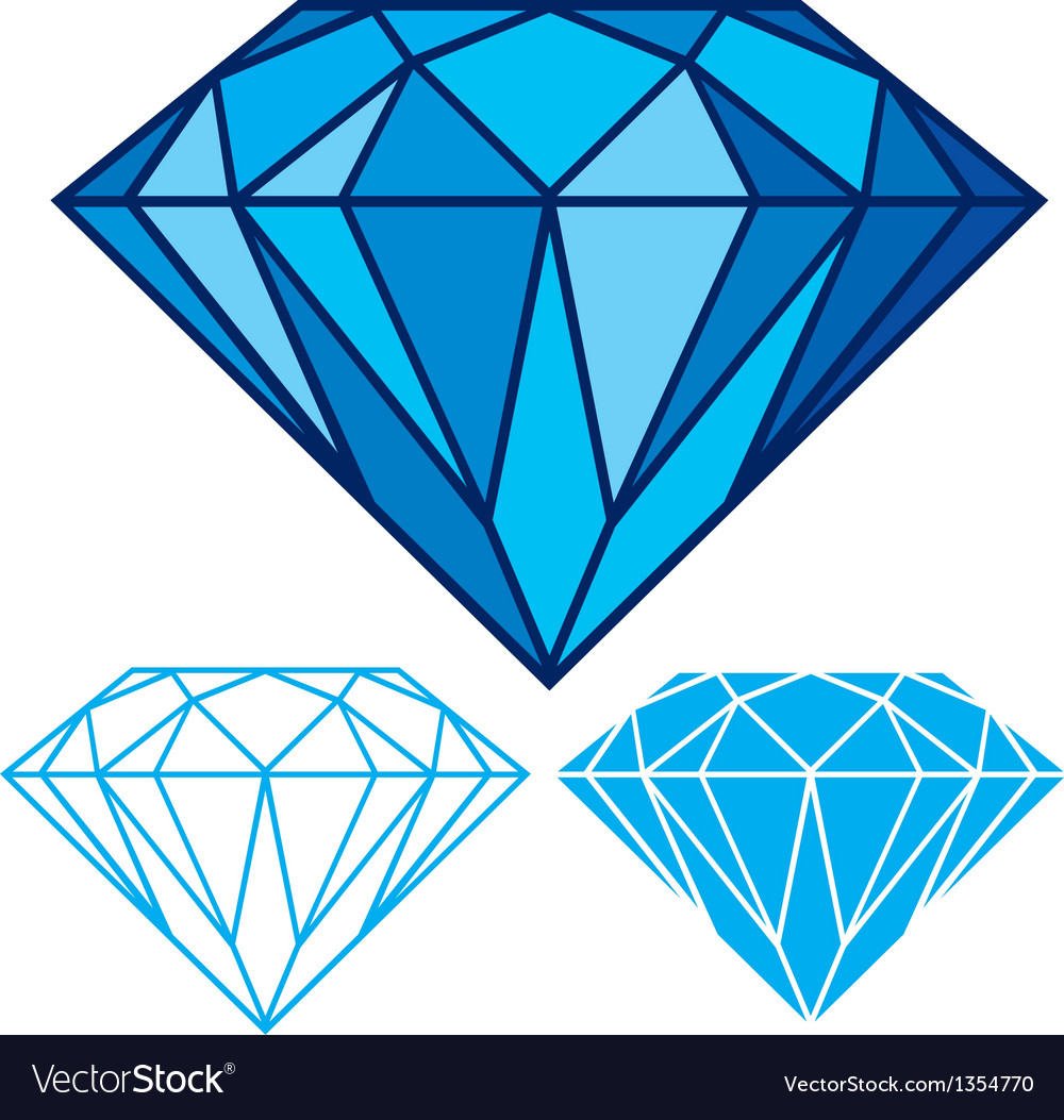 Blue diamond vector | Price: 1 Credit (USD $1)