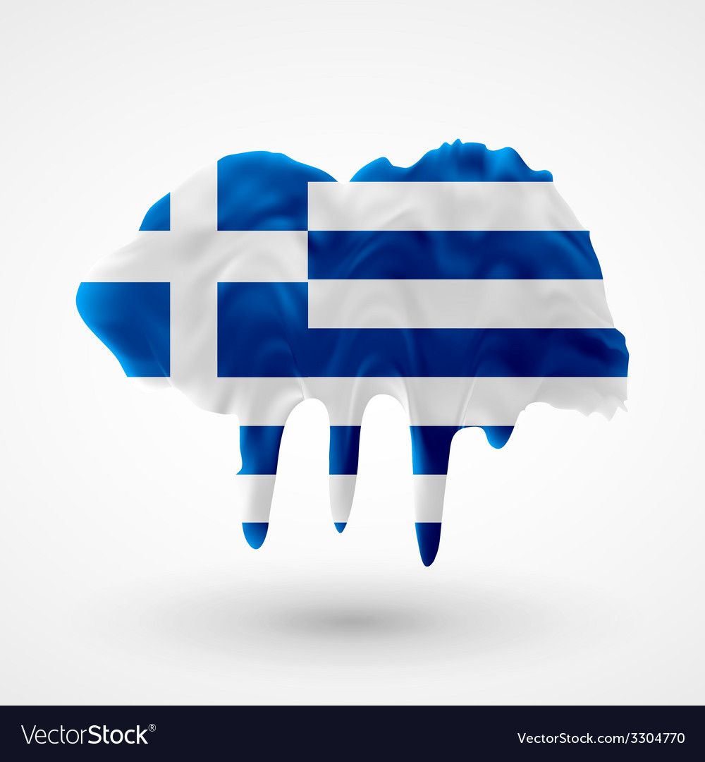 Flag of greece painted colors vector | Price: 1 Credit (USD $1)