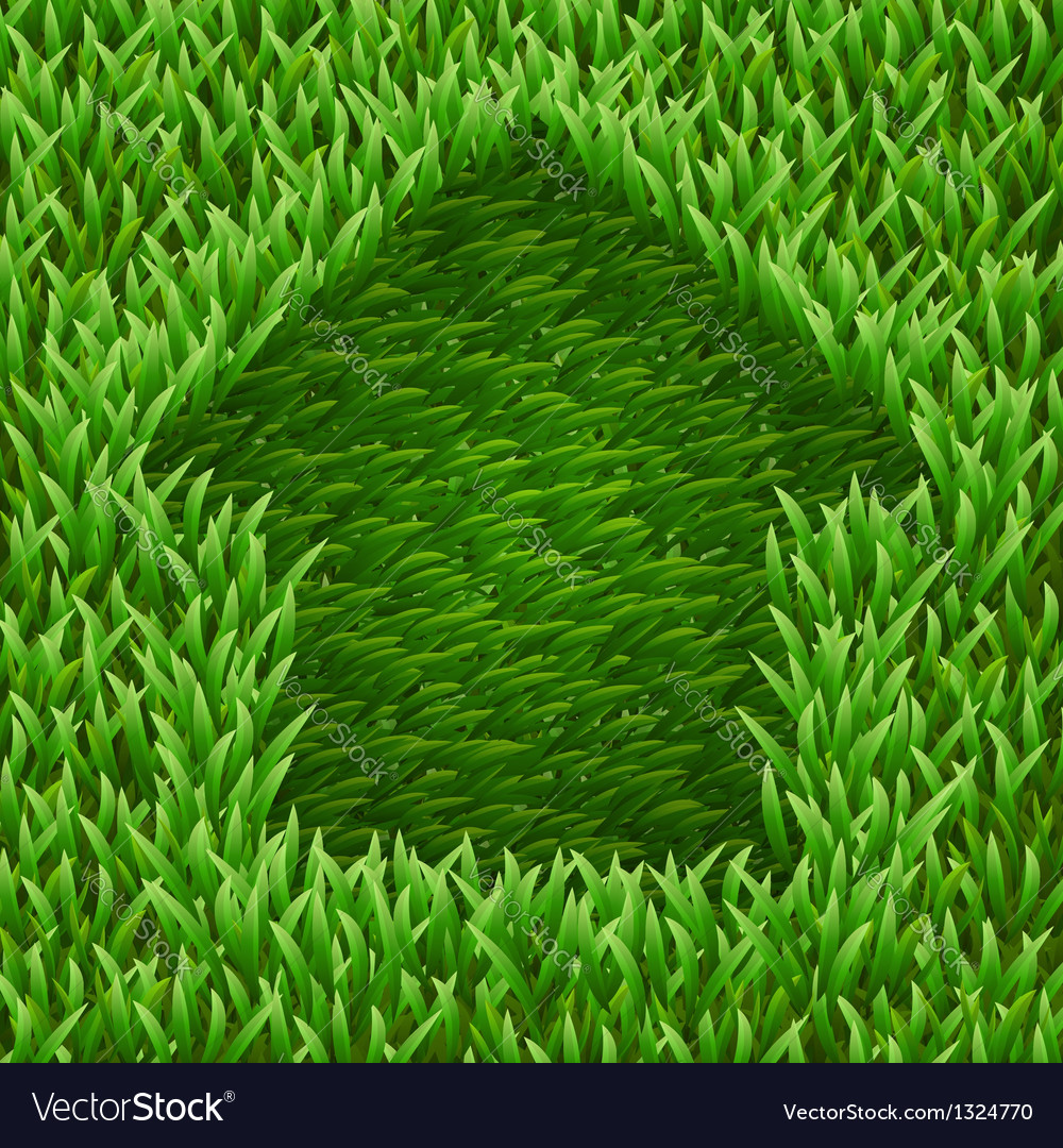 Home on green grass vector | Price: 1 Credit (USD $1)