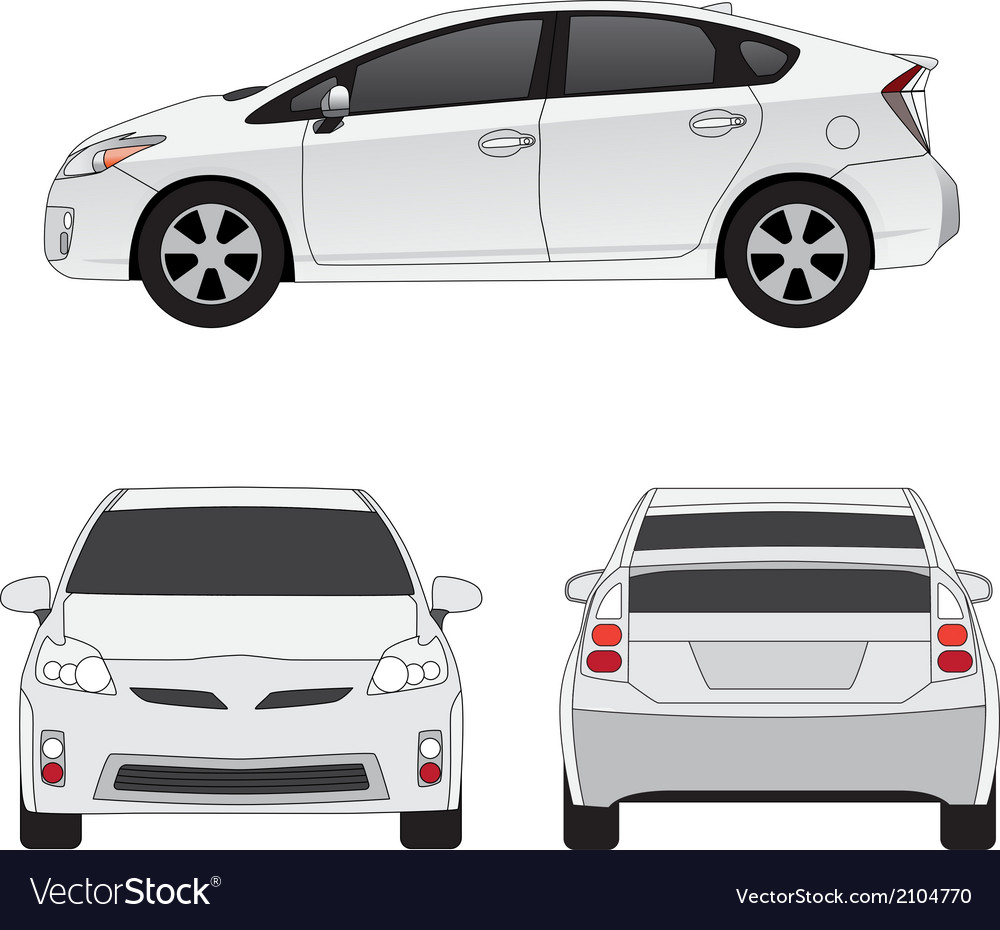 Medium size city car vector | Price: 1 Credit (USD $1)