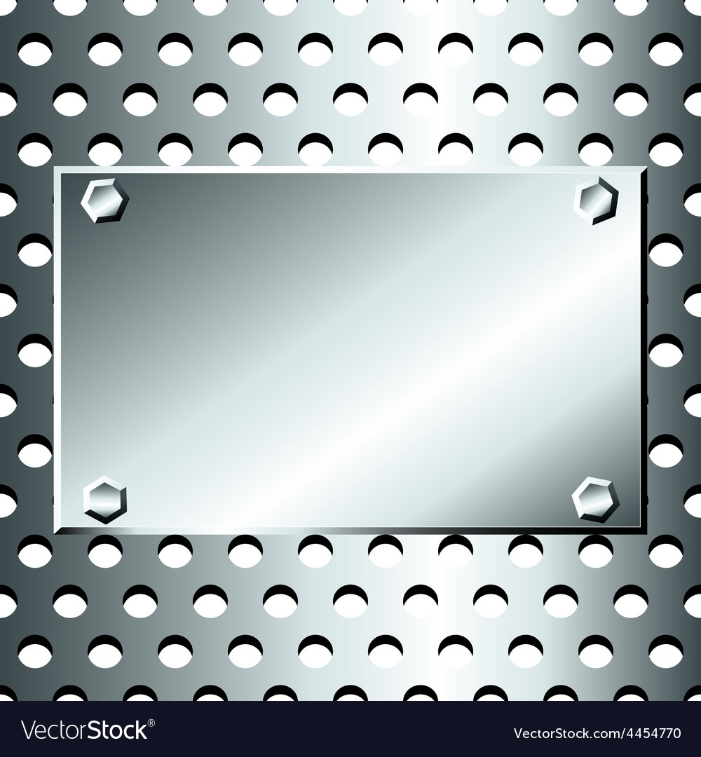 Seamless stainless grid with bolted plate vector | Price: 1 Credit (USD $1)