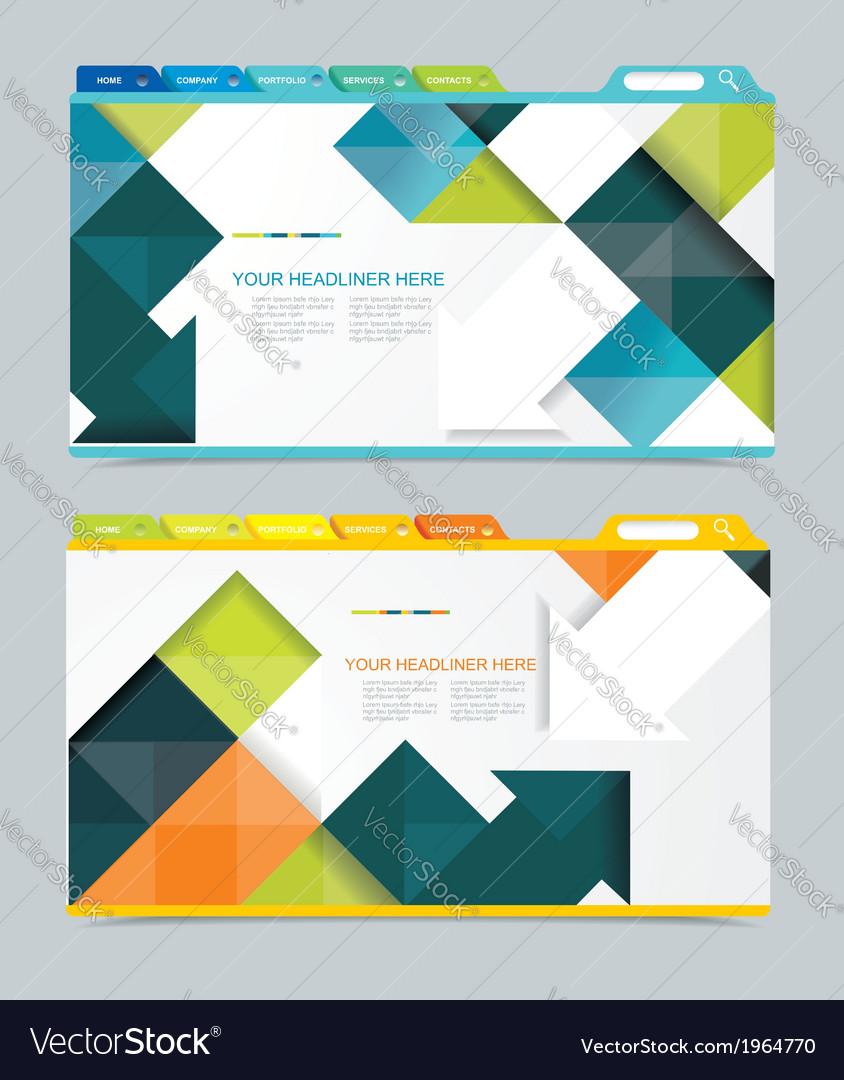 Web design navigation set vector | Price: 1 Credit (USD $1)
