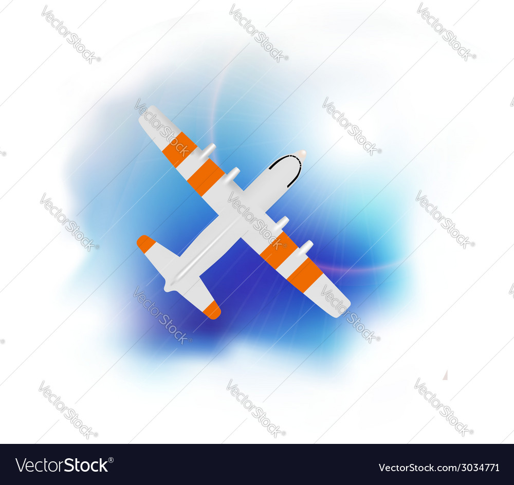 Airplane flying vector | Price: 1 Credit (USD $1)