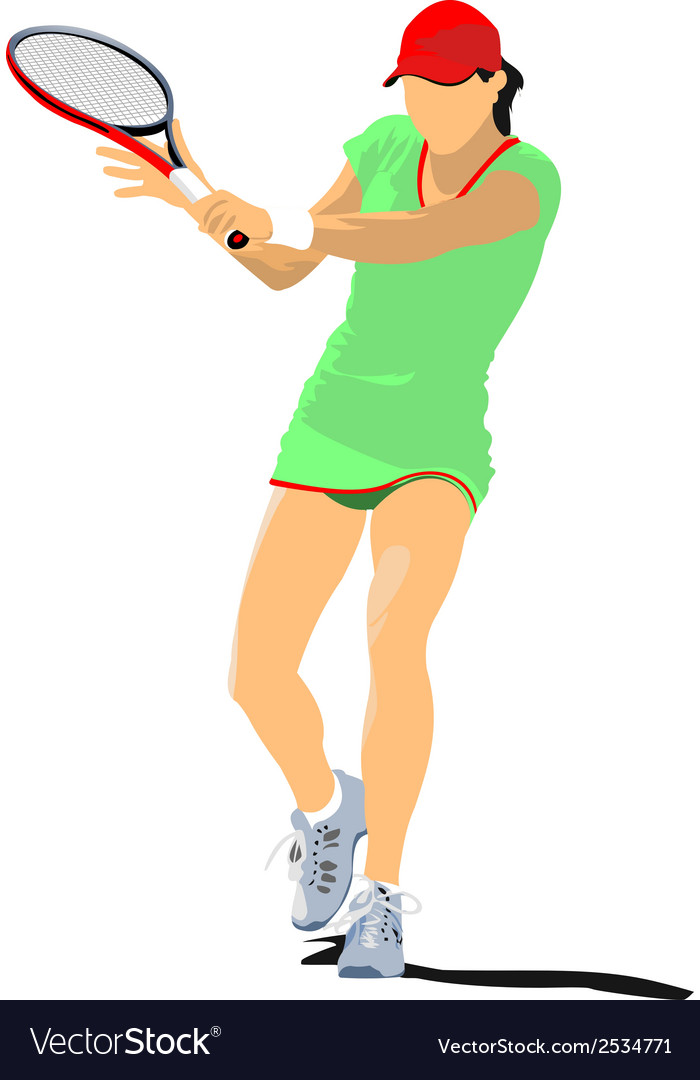 Al 0601 tennis 02 vector | Price: 1 Credit (USD $1)