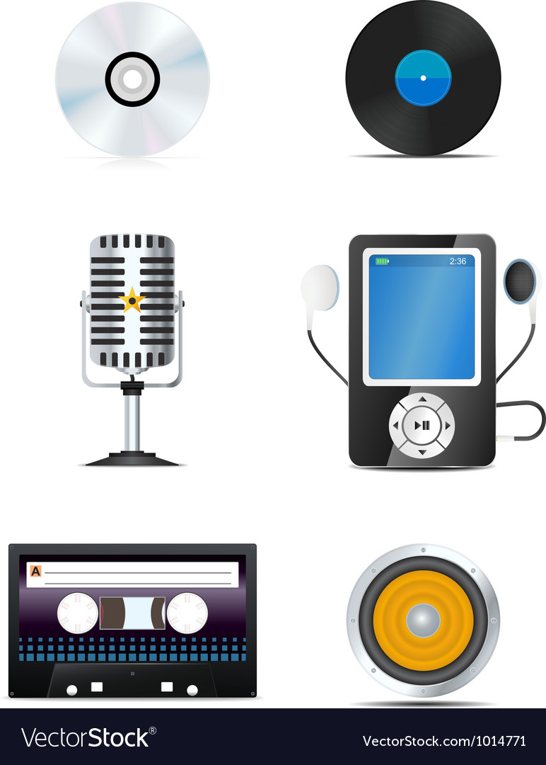 Audio icons vector | Price: 3 Credit (USD $3)