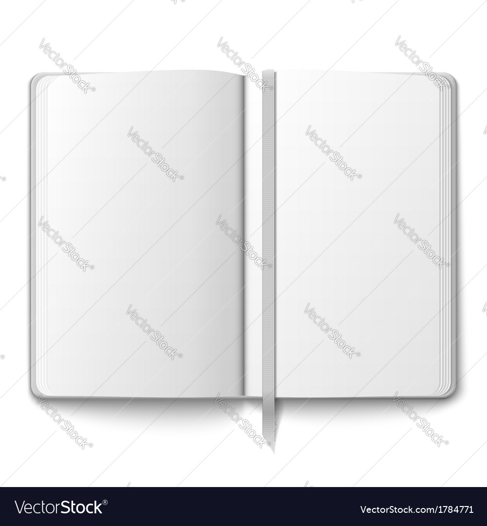 Blank copybook template with bookmark vector | Price: 1 Credit (USD $1)