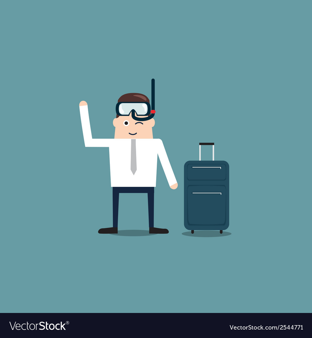 Businessman with snorkel vector | Price: 1 Credit (USD $1)
