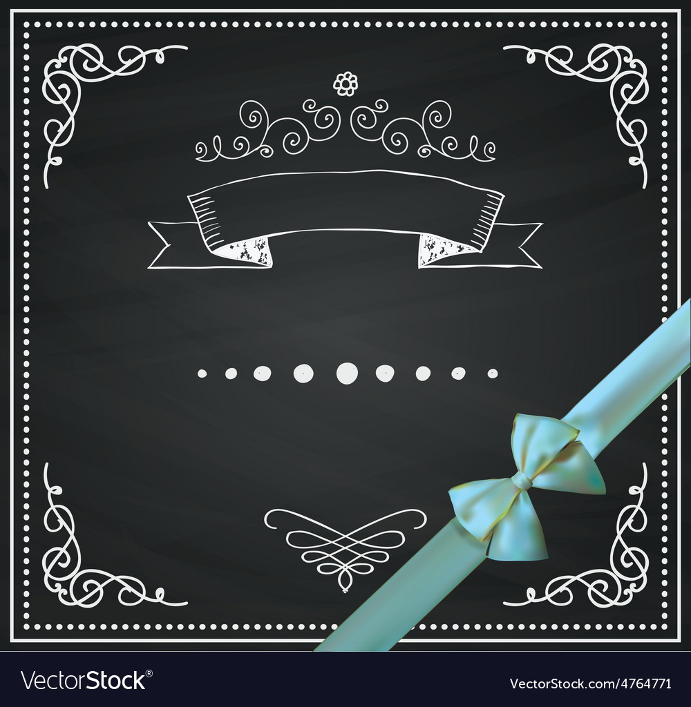 Chalkboard card with doodle hand sketched vector | Price: 1 Credit (USD $1)