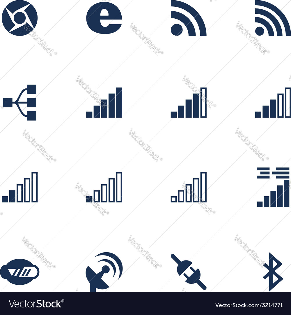 Connetion icons vector | Price: 1 Credit (USD $1)