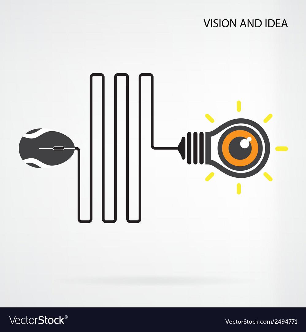 Creative light bulb idea vector   Price: 1 Credit (USD $1)