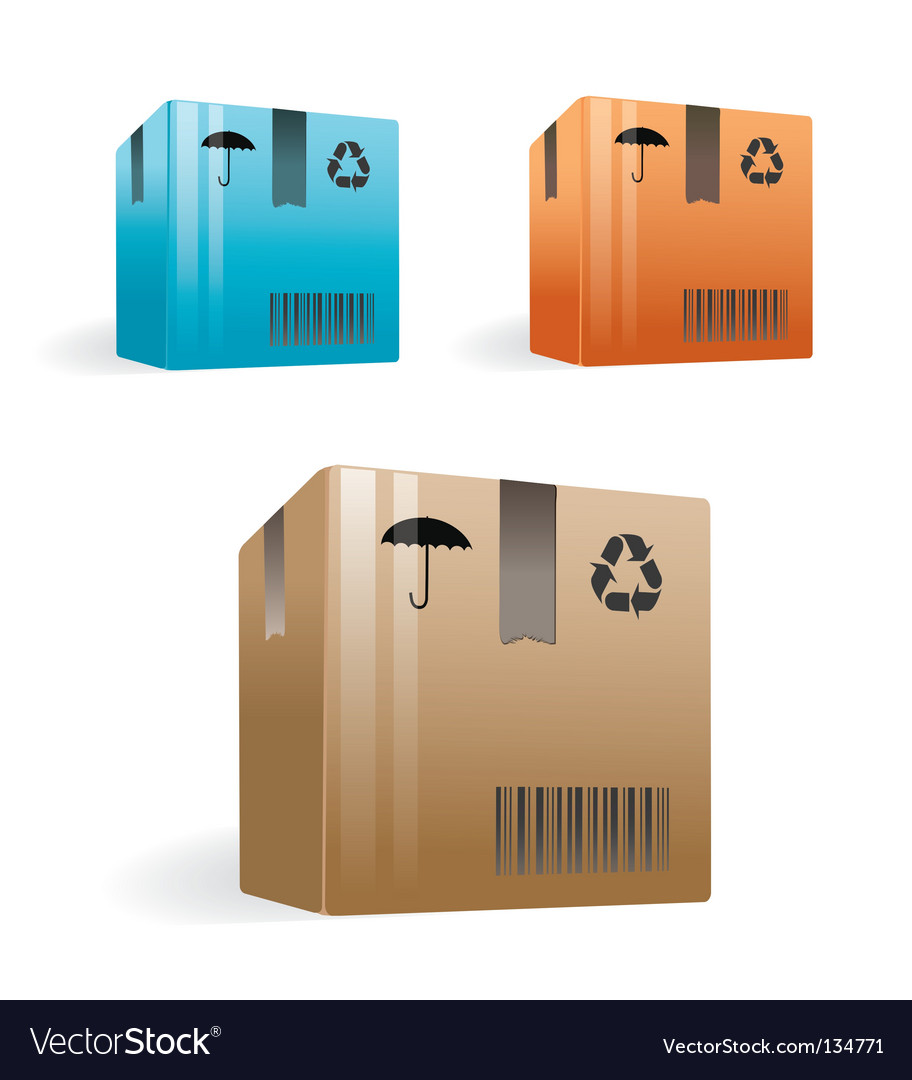 Delivery boxes vector | Price: 1 Credit (USD $1)