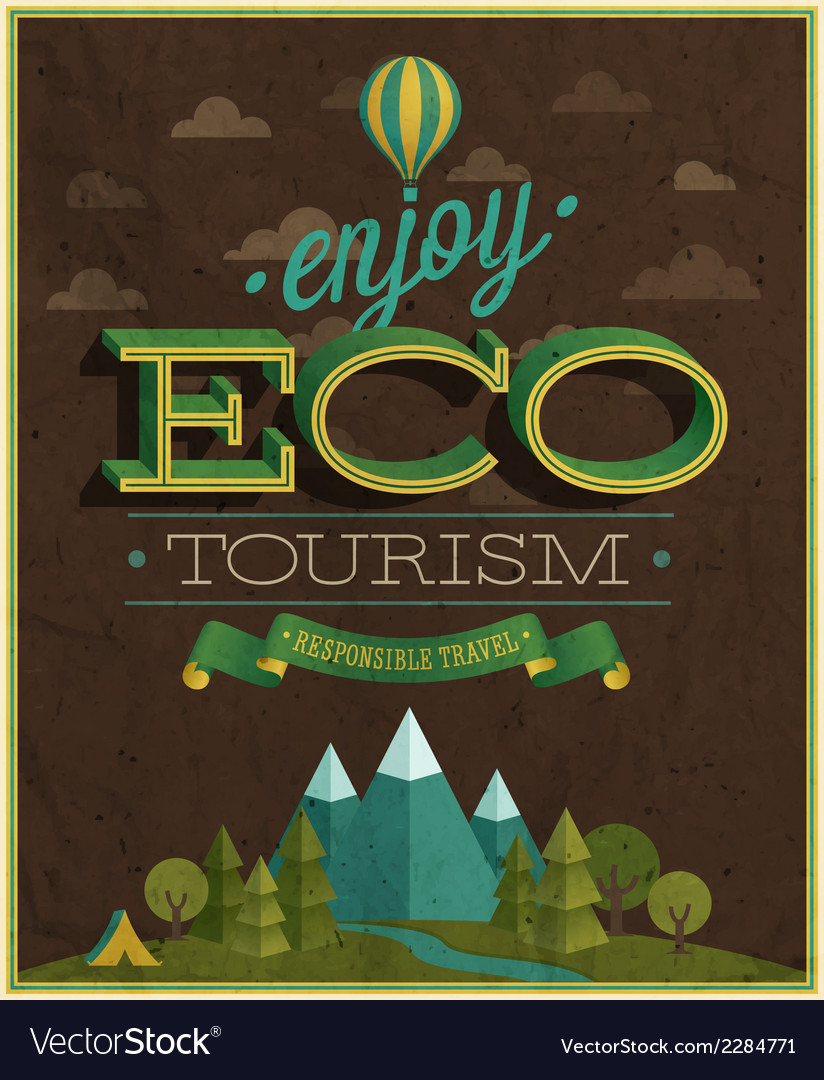 Eco tourism vector | Price: 1 Credit (USD $1)