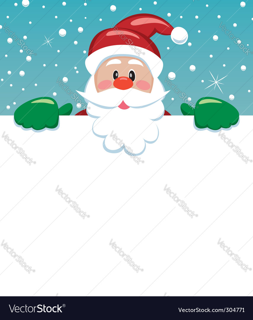 Santa with blank paper vector | Price: 1 Credit (USD $1)
