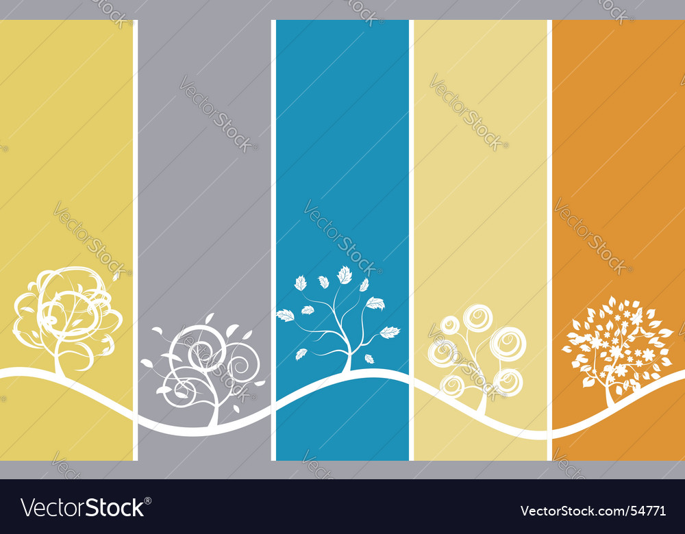 Seasons background vector | Price: 1 Credit (USD $1)