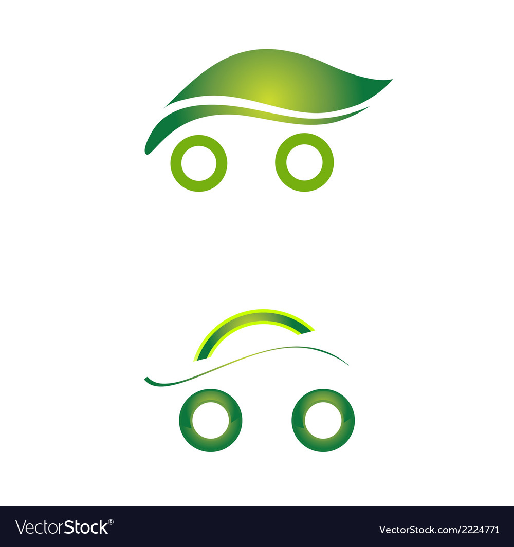 Set of safety eco cars art vector | Price: 1 Credit (USD $1)