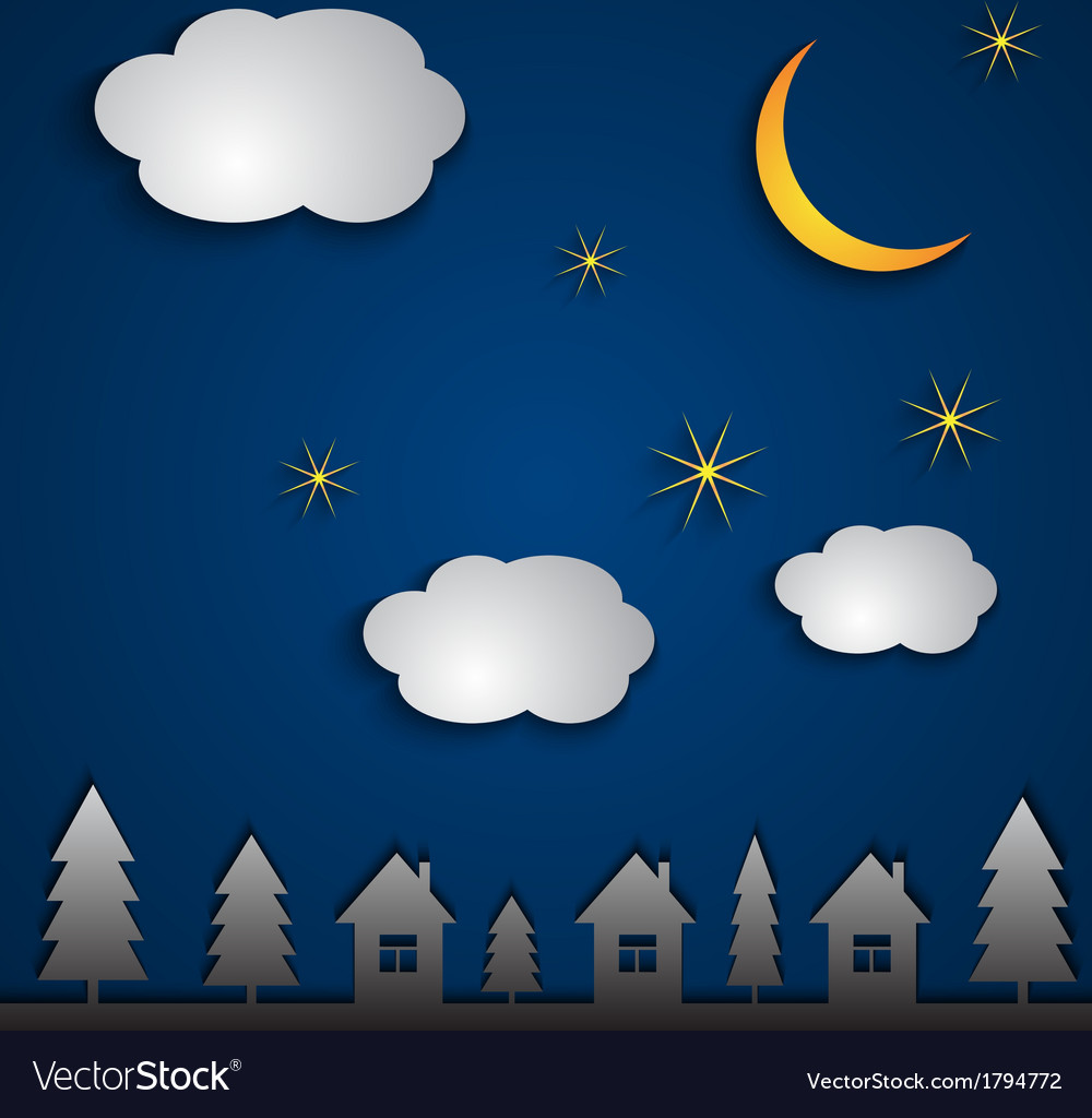 Abstract night landscape vector | Price: 1 Credit (USD $1)