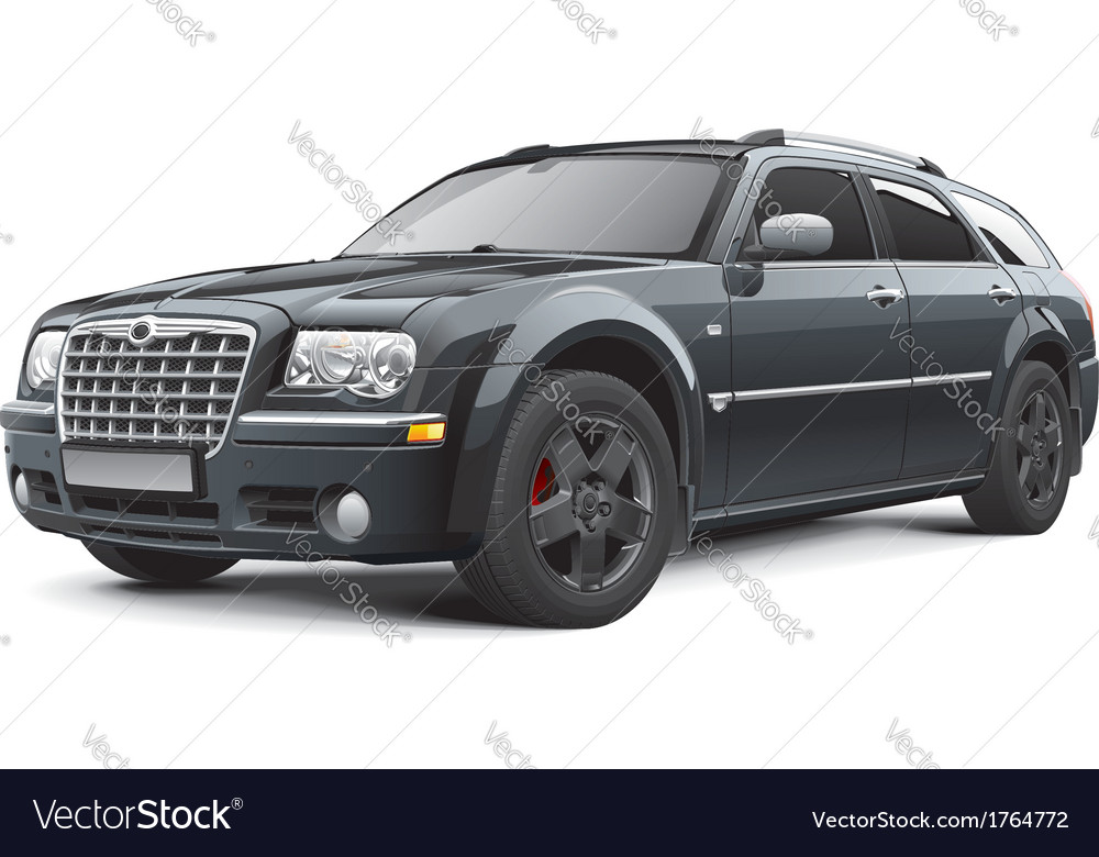 American full size station wagon vector   Price: 3 Credit (USD $3)
