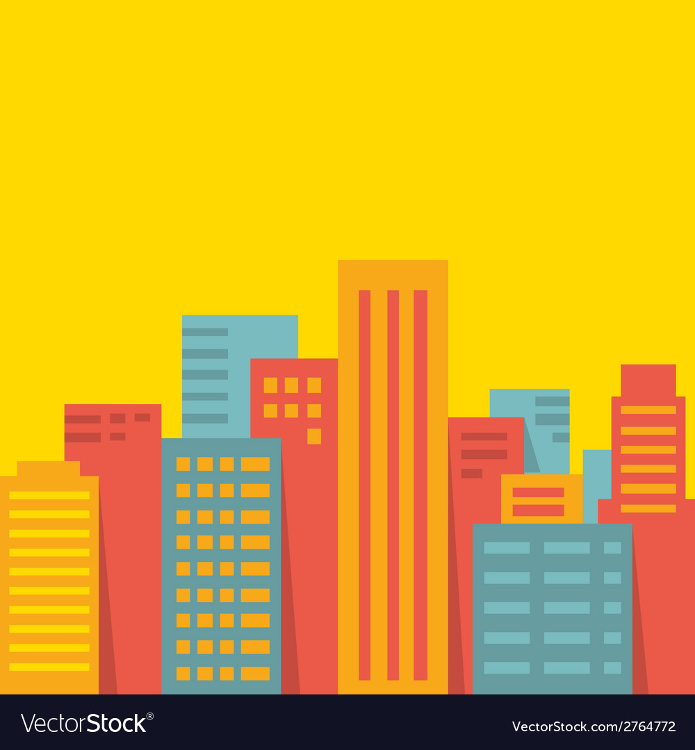 Background big city vector | Price: 1 Credit (USD $1)